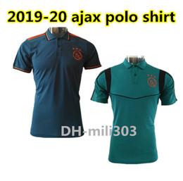 2019 2020 ajax camisetas de fútbol Camisetas polo 19 20 ajax FC DE JONG TADIC ZIYECH NERES VAN DE BEEK Polo Camiseta deportiva de manga corta desde fabricantes