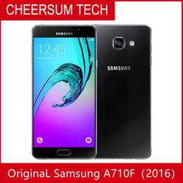 hotsale sbloccato ricondizionato originale Samsung Galaxy A7 A7100 2016 singola SIM cellulare Octa Core 3GB / 16GB 5.5 pollici 13MP 4G LTE DHL libero da
