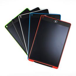 refrigeradores de oficina Rebajas 12 pulgadas LCD Escritura Tablet Touch Pad Oficina Tablero Electrónico Refrigerador Magnético Mensaje Stylus Niños Cumpleaños Día de Navidad Regalos STY146