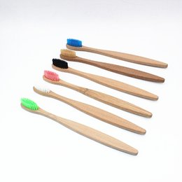 Argentina Colorido Cabeza Bambú Carbón Cepillo de dientes Cerda suave Higiene oral VENTA CALIENTE Portátil favorable al medio ambiente Suministro