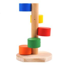 Mise à l'échelle en bois de petits animaux Hamster fil d'or rotation d'ours monter l'escalier échelle Woodiness jouets ? partir de fabricateur