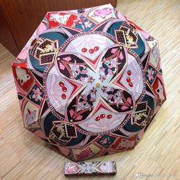 Argentina Paraguas de lujo Paraguas de sol automático protección contra los rayos ultravioleta personalidad diseño de la rosa patrón letra L diseño V moda de lujo diseño único Suministro