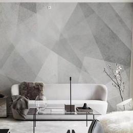 Pintura Decorado Abstract Imagem Art Wallpaper geométrico gráfico lona criativa retro 3d Mural óleo Para Sofá Decoração Wall No Frame de