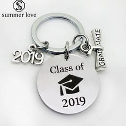 2019 Portachiavi creativo Graduazione Stagione Souvenir Portachiavi Portachiavi Regalo di laurea Studenti laureati Accessori di gioielli energia positiva da miniatura portatile fornitori