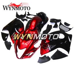 2019 inyección de carenado zx14 Carenados de la motocicleta Hayabusa para Suzuki GSXR1300 2008 2009 2010 2011 2012 2013 2014 2015 2016 2016 Plástico ABS Rojo Negro Cubrir conjunto completo