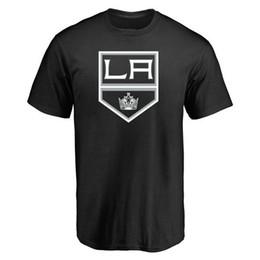 2019 stampa 3d libera il trasporto 18 19 uomini Los Angeles Kings Fanatics Nuova T-Shirt stampa 3D Logos mens outdoor manica corta Spedizione gratuita Black Grey Hockey Maglie stampa 3d libera il trasporto economici