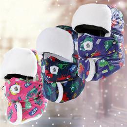 2019 máscara de esqui grossa Crianças Menino Menina Super Grosso quente Ski Hat Cap Com Máscara Leifeng Trooper Snowboard Trapper Inverno Aviador Bomber Earflap Crianças desconto máscara de esqui grossa