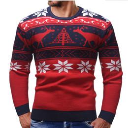 Новые некрасивые рождественские свитера онлайн-Горячая продажа новая мода спорт Рождество олень уродливые свитера для мужчин теплый вязаный повседневная пуловер трикотаж