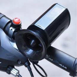2019 corno suono Black Sounds Super Loud Trombe da bicicletta elettroniche ultra-forti Mountain Bike Electronic Bell Becycle Riding Horn ZZA535 corno suono economici