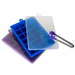 square silicone ice cube tray Promo Codes - Ice Cube Mold Bar Kitchen Accessories 24 Holes DIY Creative Small Square Shape Silicone Ice Tray Fruit Ice Cube Maker DH0562