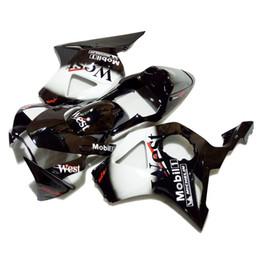 Sıcak satış fairing Honda Honda CBR900RR 2002 2003 kiti siyah beyaz kaporta seti CBR 954RR 02 23 VC25 cheap 954rr fairing white nereden 954rr fuar beyazı tedarikçiler