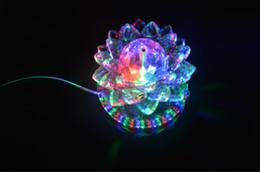 rgb perlen Rabatt Auto Rotating 11 Watt LED RGB Kristall Bühne Licht 51 stücke Perle Lampe für Hauptdekoration DJ Disco Bar Beste Geschenk