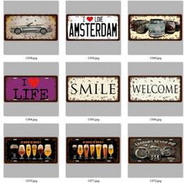 HISTORIC HR 66 LISENCE CARLATE Vintage Metal Tin Sign Bar pub home Wall Decor