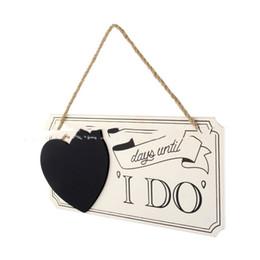 En forme de coeur Mode et Portable Usine Vente Directe Mariage Bois Signes De Mariage De Mariage Compte À rebours Conseil En Forme De Coeur Tableau Noir De Mariage ? partir de fabricateur