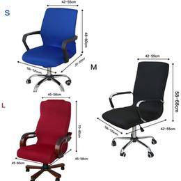 Sitzlifte online-Elastizität Büro Computer Stuhlabdeckung Seite Sesselabdeckung Recouvre Chaise Stretch Rotierender Lift Protector Seat