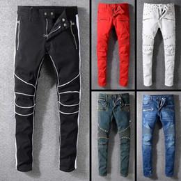 trajes para hombre más calientes Rebajas 2019 Nueva famosa marca de diseñador de vestuario larga rasgados suaves calientes pantalones vaqueros para hombre motorista de lujo caliente de la moda de alta calidad para los hombres de la venta caliente
