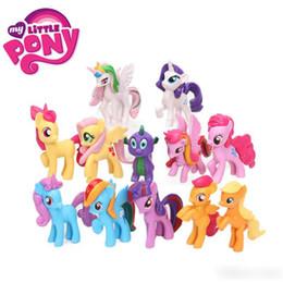 2019 presentes bonitos para meninas 12 pçs / set 5-8 cm rainbow horse meu bonito pvc unicorn little ponis figuras de ação do cavalo bonecas para a menina presente de natal de aniversário brinquedos para crianças desconto presentes bonitos para meninas