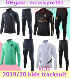 Trajes de fútbol para niños online-2019 2020 Real Madrid niños tracksuit SUIT veste de chandal de fútbol 19/20 PELIGRO ASENSIO ISCO de Menores Survêtement REAL MADRID
