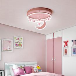 lámparas de la habitación de la princesa Rebajas Nueva Princess Girl Habitación de los niños Luces de techo Iluminación moderna LED Montaje en superficie con control remoto Lámpara de interior Lampara Techo