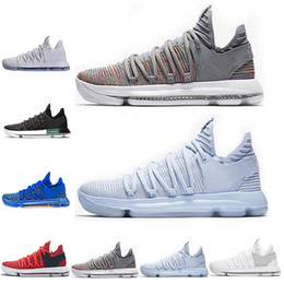 41a68fdbc3ba Wholesale KD 10 Kevin Durant Men Basketball Shoes Oreo BHM White black  Numbers Anniversary Stucco Igloo Multi Color 10 X Sports Sneaker kd shoes  bhm ...