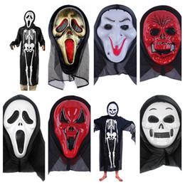 slipknot gesichtsmasken Rabatt Heiße Halloween Maske Slipknot Masken Screaming Skeleton Grimasse Requisiten Maskerade Maske volles Gesicht für Männer Frauen gruselige Maske Party SuppliesT2I5349
