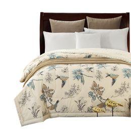 Canada Couvre-lit en coton Svetanya American Pastoral Bird print Couverture de couverture été mince couette cousue Couette Remplissage Couette cheap american bedspreads Offre