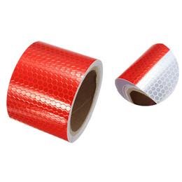 5 cm x 3 m ruban réfléchissant de sécurité autocollant de film autocollant rouge et blanc ruban réfléchissant feuille de coiffage ? partir de fabricateur