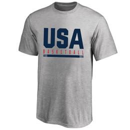 usa t-shirt da basket Sconti 2019 Basket World Cup USA Squadra nazionale di basket T-Shirt America Magliette grafiche da uomo Fan Supera le magliette degli Stati Uniti Logo stampato