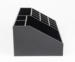 2019VIP подарок классический акриловая черная помада многофункциональный дисплей стенд косметика CC этикетка ящик для хранения аксессуары ящик для хранения и подарочная коробка supplier labels cosmetics от Поставщики этикетки косметические