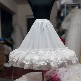 Короткая юбка петуха онлайн-2019 Короткая юбка с кружевной кромкой для выпускного. Свадебное платье для женщин A Line Underskirt Свадебная юбка-кринолин