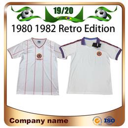 Maillot de villas en Ligne-1982 version rétro maillots de football Aston Villa 1980 Aston Villa White uniforme de chemise de football de qualité supérieure