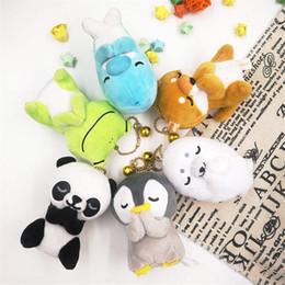2019 brinquedo cão rã Criativo 2019 Sapo Cão Desejando Brinquedo Recheado de Pelúcia Pingente Chaveiro Panda Pinguim Saco Pendurado Chave Anel de Presentes de Casamento brinquedo cão rã barato