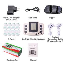 Pantofole massaggio terapia online-Nuovo pulsante russo Stimolatore muscolare elettrico Corpo Relax Massager muscolare Impulso Decine Terapia di agopuntura Pantofola + 8 pastiglie + scatola