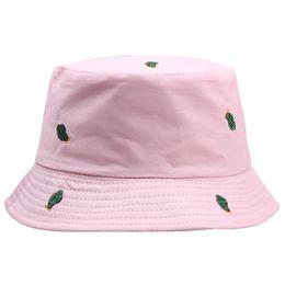 boonie sombreros verde Rebajas Nueva bordado verde Cactus Sombreros Del Cubo Mujeres Sombreros Boonie protección UV protector solar Caps Pescador Beach para viajes de verano