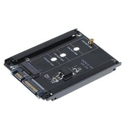 Prises sata en Ligne-Adaptateur M.2 SSD M2 Adaptateur SATA NGFF M.2 clé b convertisseur M2. to 2.5 Carte de connecteur d'alimentation SATA 6 Gb / s avec prise de boîtier
