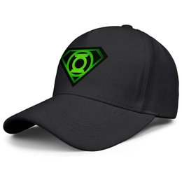 cap superman gold Coupons - Green Lantern superman logo black mens and womens fishing hats adjustable baseball caps fitted fashion Soft hats