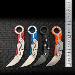 Couteau pliant poche pliante en Ligne-Couteau Pliant 4 Couleurs Karambit Claw Combat Trainer Trainer Nouveau