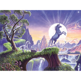 oil painting dream Coupons - Painter Dream: DIY Oil Painting By Numbers Horse theme 1 3 50*40CM 20*16Inch On Canvas Mural For Home Decoration [Unframed]
