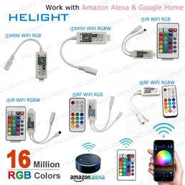 WIFI Bluetooth solo color RGB RGBW controlador de tira IR24K / RF21K Controlador de música APLICACIÓN / Control de voz para LED Strip desde fabricantes
