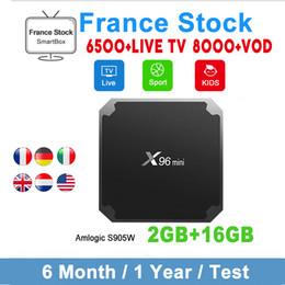 Caixa de tv europa on-line-Original X96 mini com 1 ano de subscrição IPTV França IPTV abonnement EUA CANADA Italy Árabe IPTV Android 7.1 TV Box 2GB 16GB