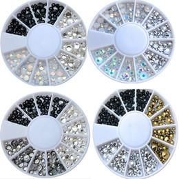 Argentina Cristales de 1 rueda SS6 / SS8 / SS10 / SS16 4 Tamaños pequeños Diamantes de imitación - espalda plana gemas de diamantes de imitación dijes piedras no hotfix para arte de uñas Suministro