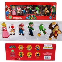 2019 giocattolo morbido osso secco Odyssey PVC Action Figure Girl Dolls Giocattoli DONKEY KONG Super Mario Bros Bowser Koopa Luigi Yoshi Mario Car Toad Peach Principessa