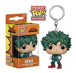Низкая цена Funko Pocket POP Брелок - Deku My Hero Academia Виниловый Рисунок Брелок с Коробкой Игрушка в Подарок Хорошее Качество 384 от