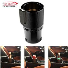 acessórios carro porta copo Desconto 12 V Auto Copo de Aquecimento Do Carro Titular do Copo Do Carro Inteligente Refrigerador Aquecedor Automático de Água Titular da Bebida Para Carros Acessórios
