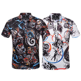 Argentina 2019 Nueva calidad de polo verano moda hombre camiseta diseño polo manga corta camiseta poloshirt ropa skull polo cheap men t shirt new print design Suministro