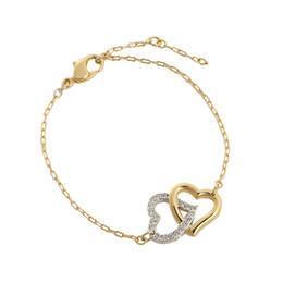 9bba40cc6841 3 Fotos Swarovski doble en venta-Swarovski romántico corazón doble pulsera  pulsera de partido pulsera femenina contador