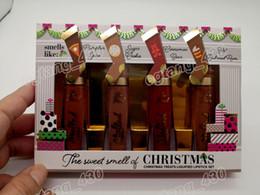 Рождественские угощения онлайн-Рождественские угощения сжиженной помады набор Делюкс расплавленный матовый сжиженный долго носить помады в Вкусные рождественские ароматы Dhl Бесплатная доставка