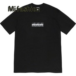 Logo t-shirt on-line-Ins Hot 2020 Primavera-Verão americano Unisex Bandana Caixa Logo camisa T Skate Mens designer de t Mulheres Rua Casual Luxury Camiseta
