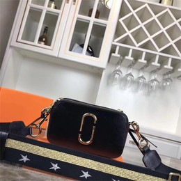 Correa para bolsa de camara online-2019 bolso bandolera, bolso de la cámara, color a juego, correa ancha para el hombro, zurriago de grano cruzado, moda salvaje, tamaño 22x13x8