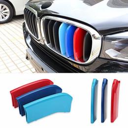 Inserti con griglia a strisce colorate M per BMW 2014 2015 X 5, 2015 X 6 Center Kidney Grill da